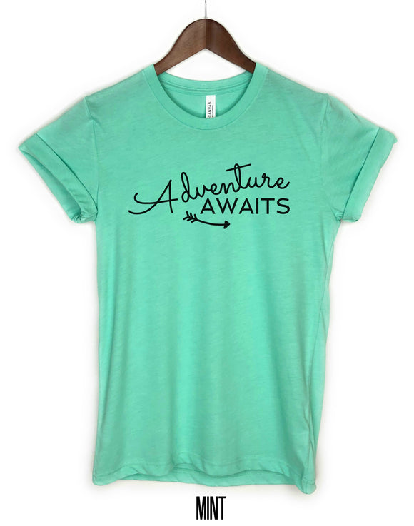 Adventure Awaits (cursive) Shirt