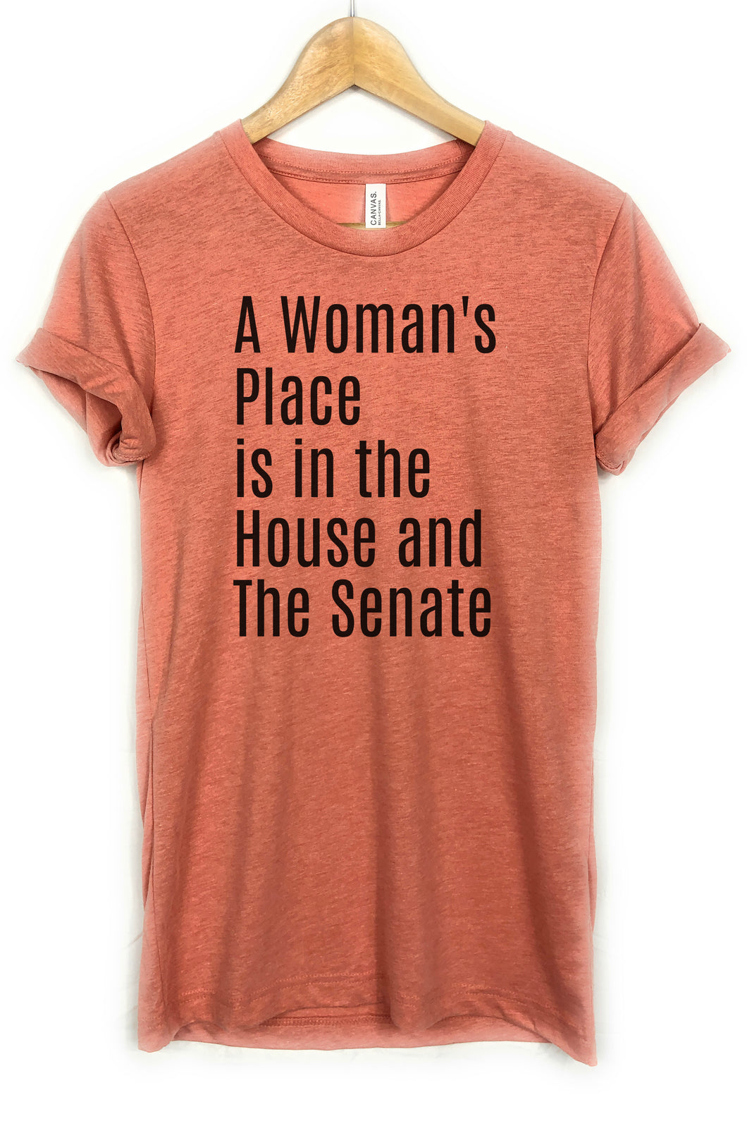 a womans lace is in the house and senate shirt