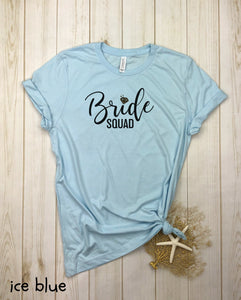 bride squad with diamond Shirt