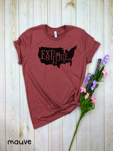 Explore USA (solid) Shirt