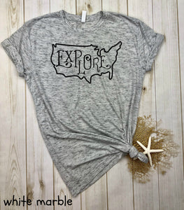 Explore USA (NOT solid) Shirt
