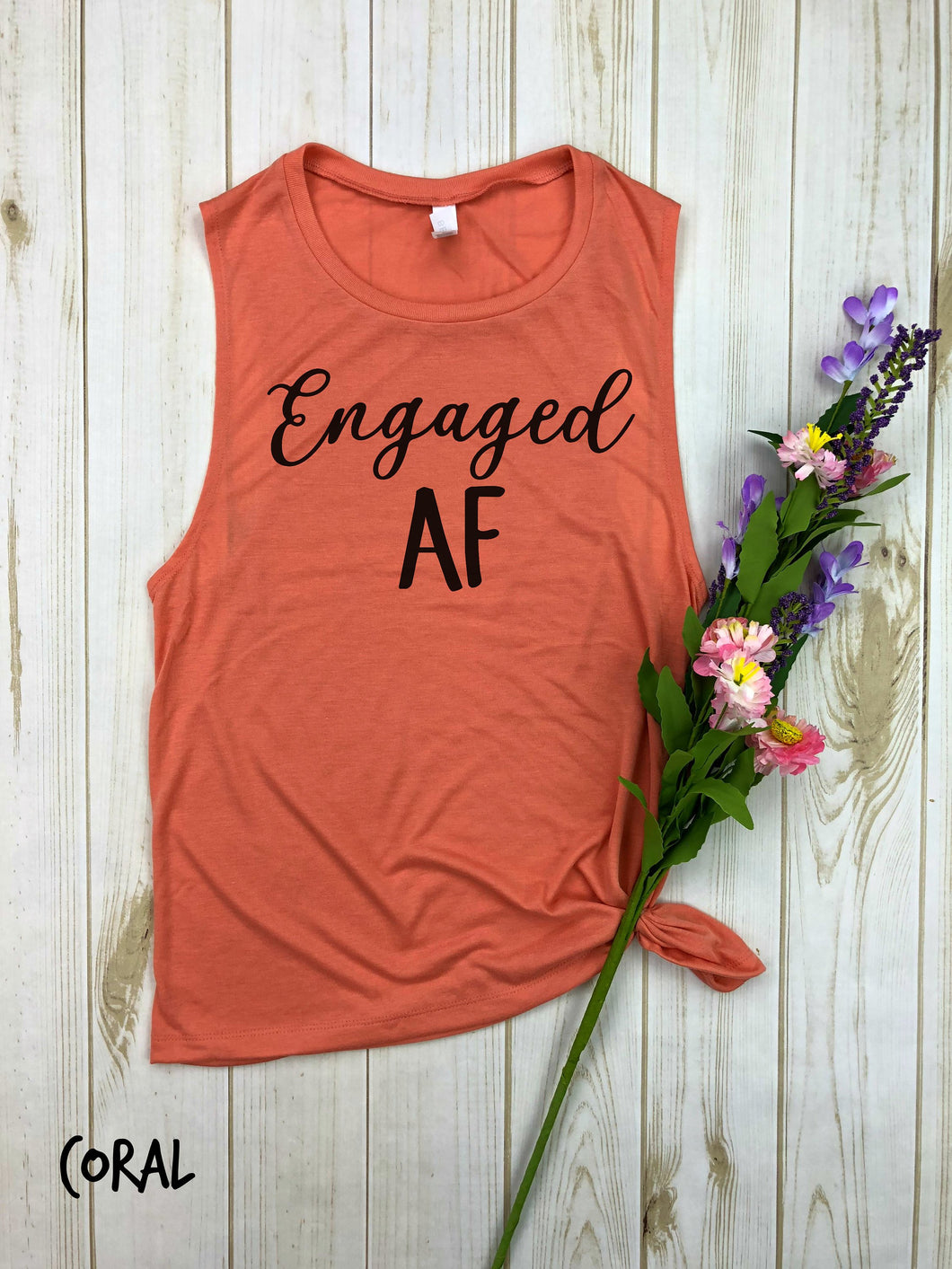 Engaged AF Flowy Muscle Tank