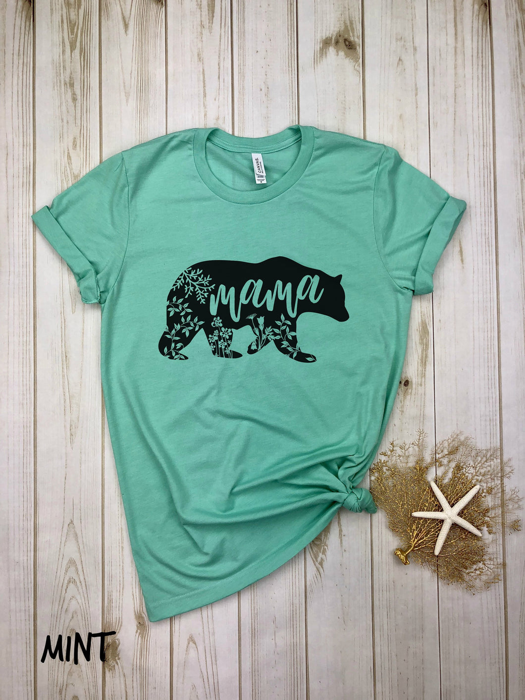 Mama Bear Shirt with flowers