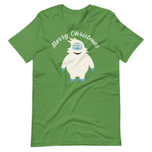 Load image into Gallery viewer, Yeti Abominable Snowman Merry Christmas Unisex T-Shirt