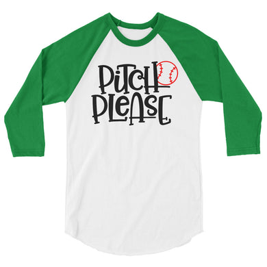 Pitch Please 3/4 sleeve raglan shirt
