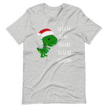 Load image into Gallery viewer, Fa Ra Ra Baby T-Rex Dinosaur Funny Christmas with Light rope Unisex T-Shirt