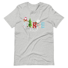 Load image into Gallery viewer, Nurse Christmas Tree Candy cane Ice sickle Snow Flake Unisex T-Shirt