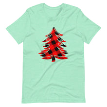 Load image into Gallery viewer, Buffalo Plaid Christmas Tree Holiday Party Unisex T-Shirt