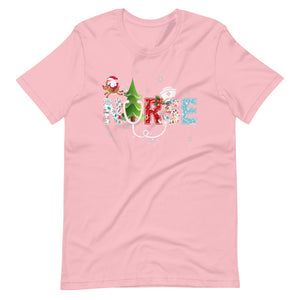 Nurse Christmas Tree Candy cane Ice sickle Snow Flake Unisex T-Shirt