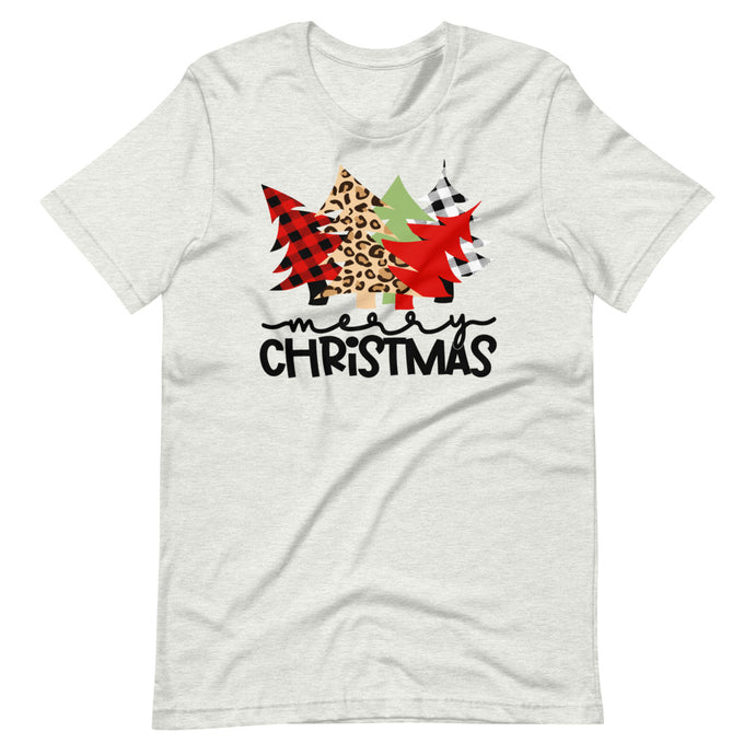 Christmas Tree Buffalo Plaid, Leopard, Red & Green Unisex T-Shirt