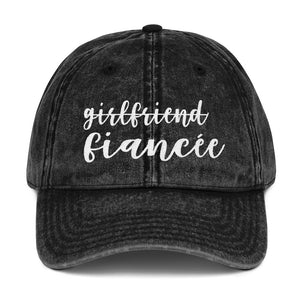 Girlfriend Fiancee Vintage Cotton Twill Cap