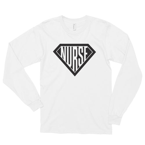 Nurse, Super Nurse, Hero, Long sleeve t-shirt