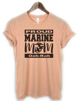 proud marine mom peach - three peaks clothing