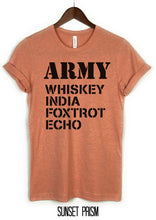 Load image into Gallery viewer, Army Shirt, Whiskey India, Foxtrot, Echo