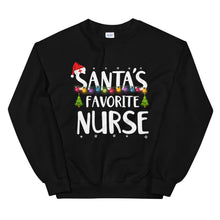 Load image into Gallery viewer, Santa's Favorite Nurse Unisex Sweatshirt