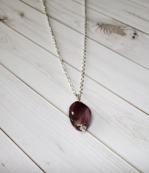 "BLACK FRIDAY SALE!  24"" Mookaite gemstone pendant  #5067"