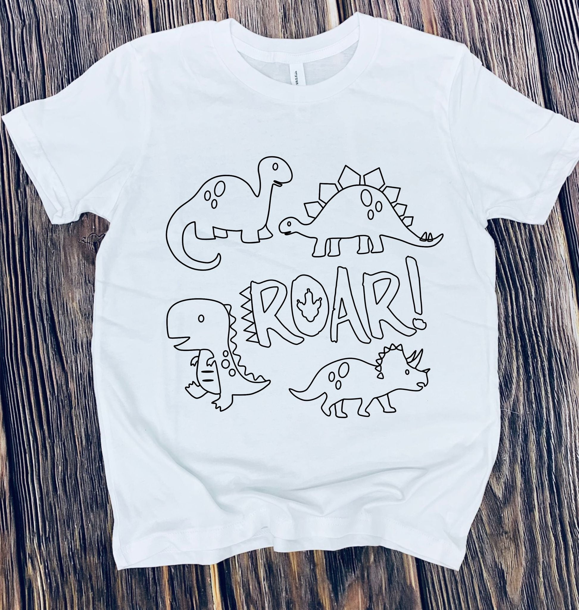 DINO YOUTH COLORING TEE