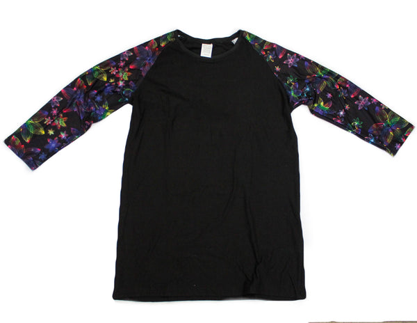 Whimsies brand neon flower raglan