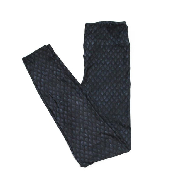 Black Dragonscale Full Length Legging NO pockets