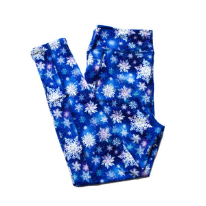 Snowflakes full length legging with pockets