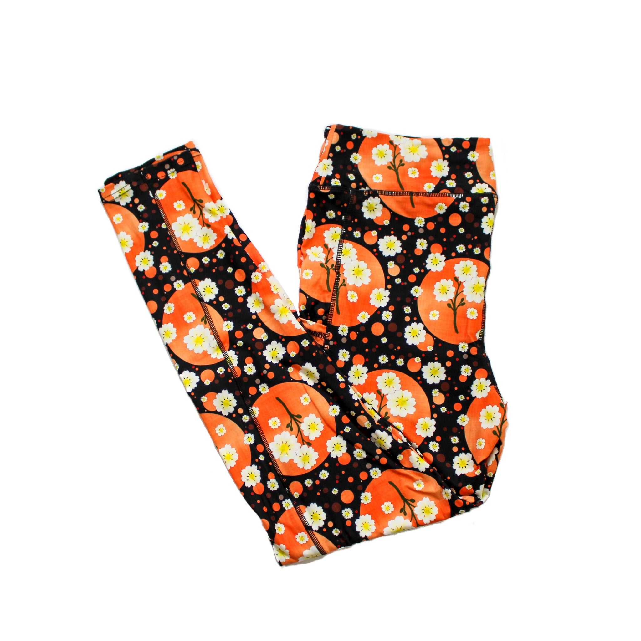 Autumn Blooms full length legging with pockets
