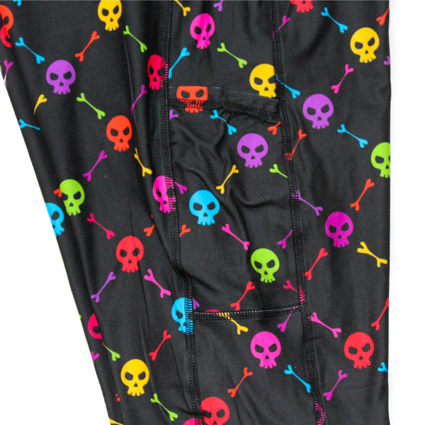 Rainbow Skulls full length legging with pockets
