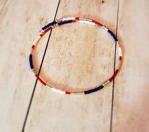 Southwestern Red, White, and Blue choker
