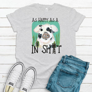 S - As Happy As -Shirt  - Black/Gray