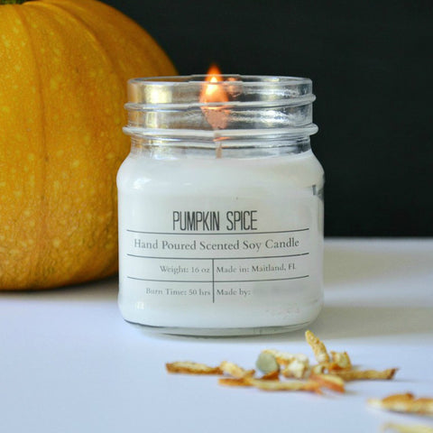 Fall Scented Soy Wax Candles
