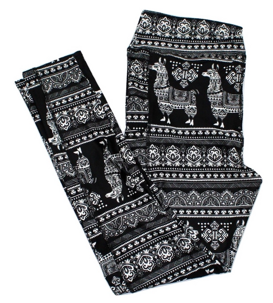 Sweater Llamas full length legging with pockets
