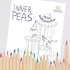 Inner Peas Printable Coloring Page
