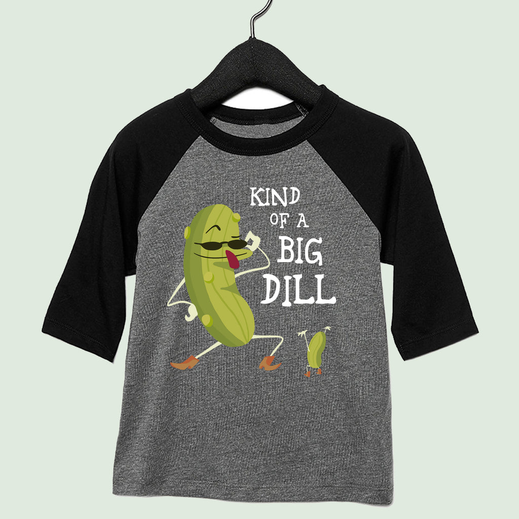 Big Dill Youth 3/4 Sleeve Baseball Tee