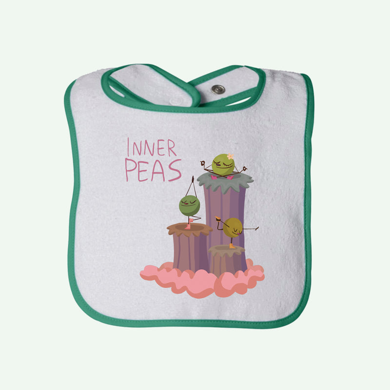Peas Yoga Girls Terry Bib