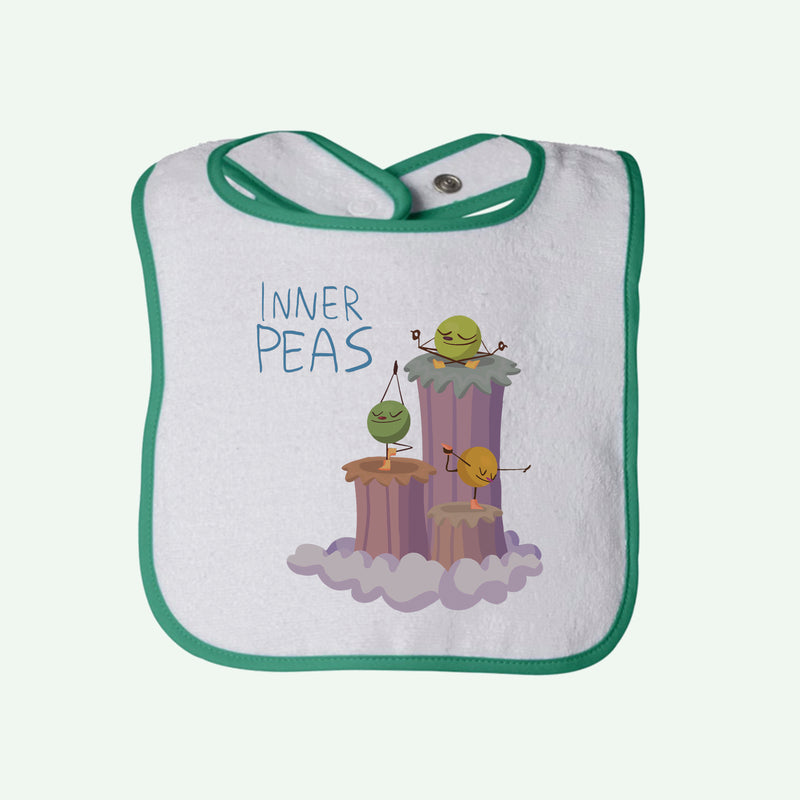 Peas Yoga Boys Terry Bib