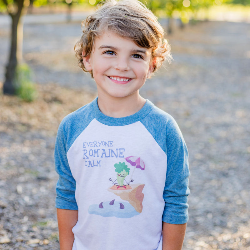 Romaine Calm Toddler 3/4 Sleeve Baseball Tee