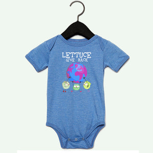 Lettuce Give Baby Onesie Blue