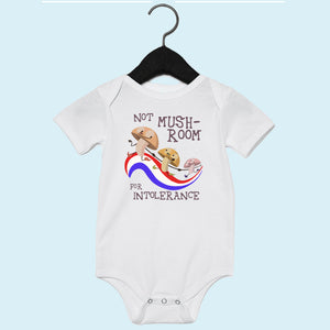 Mushroom USA Short Sleeve Onesie Light