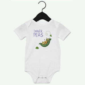 Peas Boat Boys Short Sleeve Onesie Light