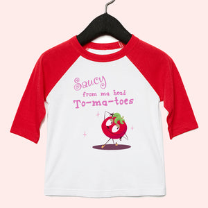Saucy Toddler 3/4 Sleeve Baseball Tee