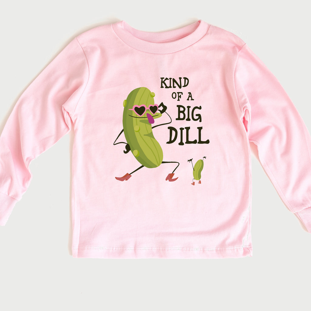 Big Dill Girl Toddler Long Sleeve Tee