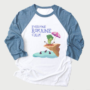 Romaine Calm Youth 3/4  Sleeve Baseball Tee