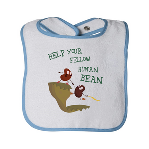 Human Bean Terry Bib