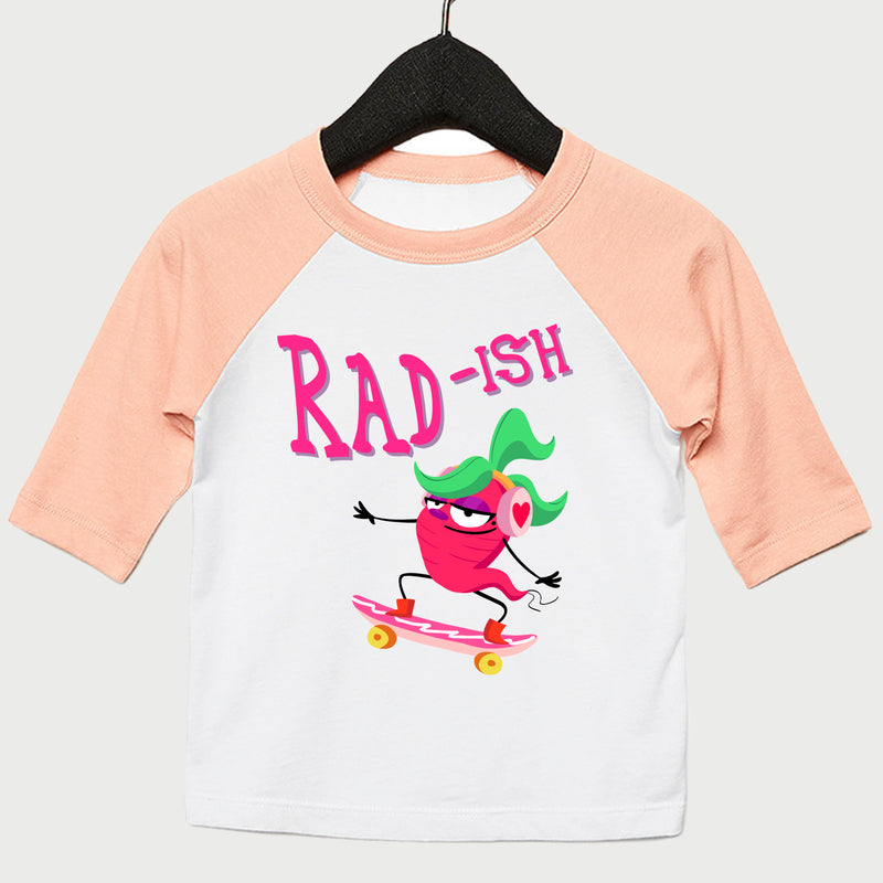 Radish Youth Baseball Tee 3/4 Sleeve Light