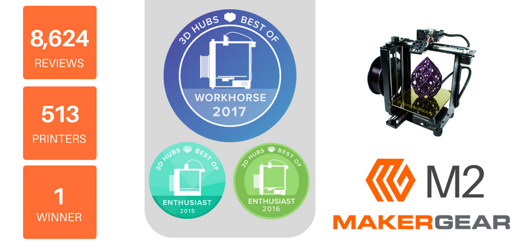 The MakerGear M2 - The world's top rated / best 3D printer, perfect FDM 3D printer for professionals.