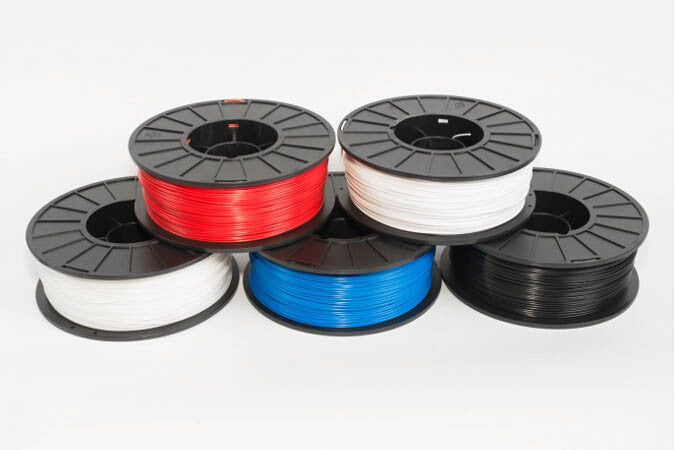 MakerGear ABS filament - 1.75 mm - 1 kg spool - Red / blue / black / white / natural. High quality filament for desktop 3D printing / printers.