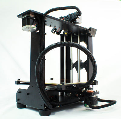 Right rear view - MakerGear M2 Desktop 3D Printer - Best value for professionals, schools, DIY enthusiasts, and serious makers. This photo is an example of the complexity, precision, and high print quality that the MakerGear M2 is best known for. With its large build volume, heated build plate / platform, open design, easy of use, and ability to print in many different standard and exotic filament materials, the M2 provides everything you need to innovate in your field of work.