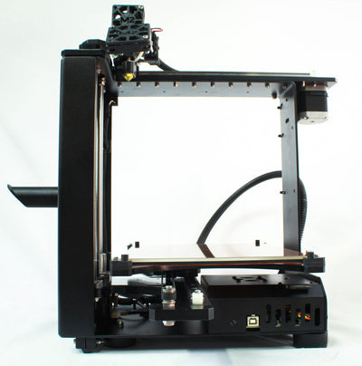 Front view - MakerGear M2 Desktop 3D Printer - Best value for professionals, schools, DIY enthusiasts, and serious makers. This photo is an example of the complexity, precision, and high print quality that the MakerGear M2 is best known for. With its large build volume, heated build plate / platform, open design, easy of use, and ability to print in many different standard and exotic filament materials, the M2 provides everything you need to innovate in your field of work.