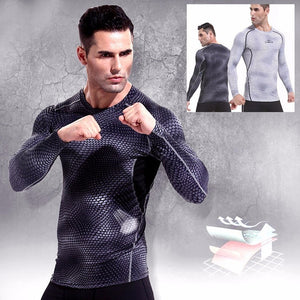 Nesa Fashion Fitness Running T shirt Men Compression Shirts Long Sleeve Tight tee shirts Quick Dry Workout Clothes Men's Base Shirt