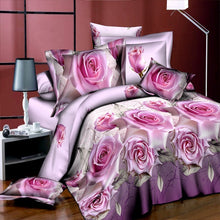 Load image into Gallery viewer, Nesa Fashion New Beautiful 3D Flower Rose Feast Pattern Bedding Set Bed sheets Duvet Cover Bed sheet Pillowcase 4pcs/set