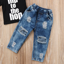 Load image into Gallery viewer, Nesa Fashion 2PCS Newborn Infant Kid Baby Boy Clothes T shirt Tops Denim Long Pants Outfits Set